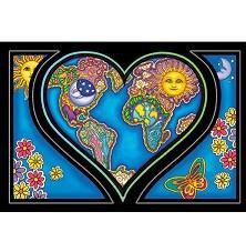 Love Earth Heart Postcard