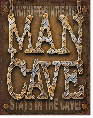 Distressed Man Cave Sign
