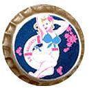 Flirty Pin-up Girl SS Naughty Button Pin