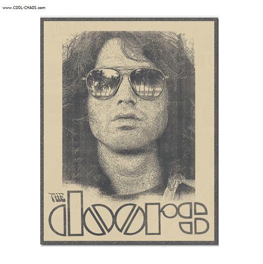 Jim Morrison Tin Sign / Jim Morrison Shades Tribute,The Doors Wall sign