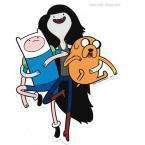 Adventure Time Marceline Finn Jake Sticker