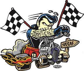 Hot Rod Viva Las Vegas Sticker