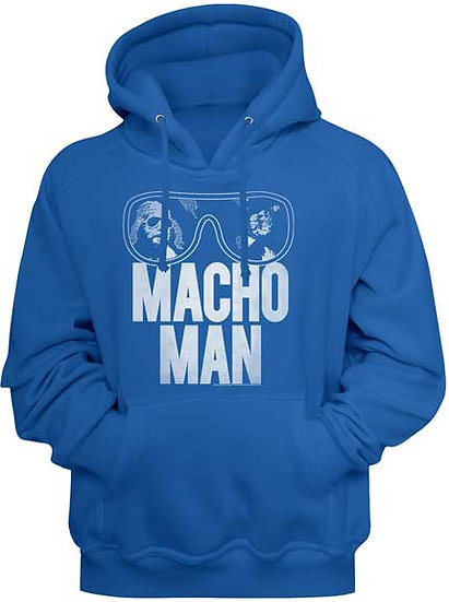 MACHO MAN Hoodie / SAVAGE Macho Man Glasses Hooded Sweatshirt