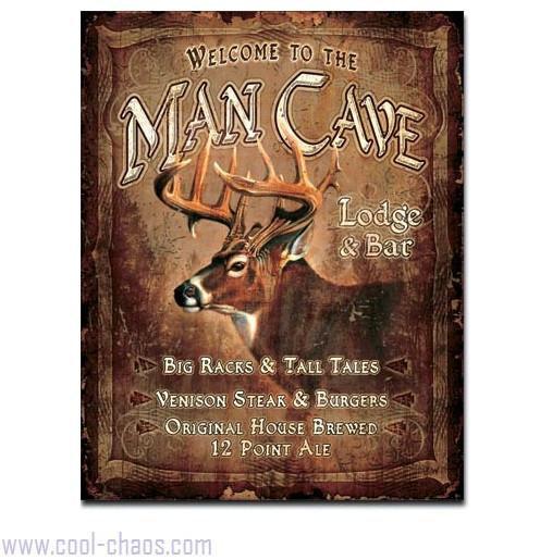 Big Racks + Tall Tales Deer Man Cave Sign