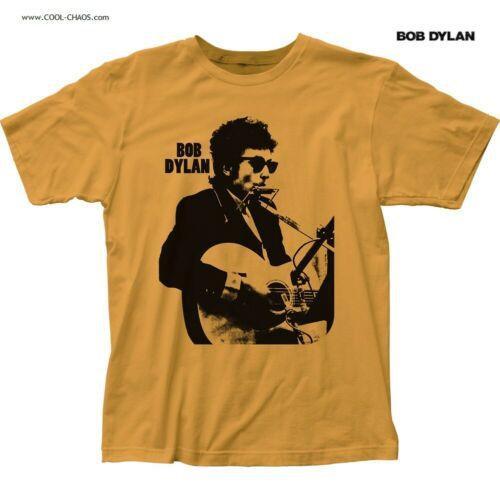 BOB DYLAN T-SHIRT / Bob Dylan Harmonica Silhouette Album Throwback Tee