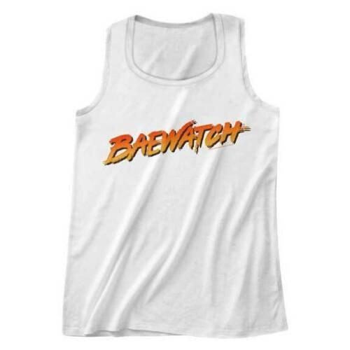 BAYWATCH TANK TOP / 'BAE-WATCH' WATCHING THE BAE'S FUNNY 90'S TV TANK TOP TEE