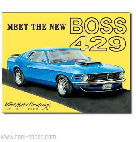 429 Mustang Boss Sign