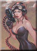 Joe Chiodo Fantasy Girl Art Magnet #1 Bomber Gun Girl Angelina
