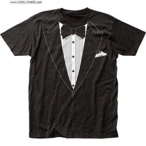 Black Tuxedo T-Shirt / Impromptu Wedding Groom tee,Prom Tux Tee,Wedding Tux Tee