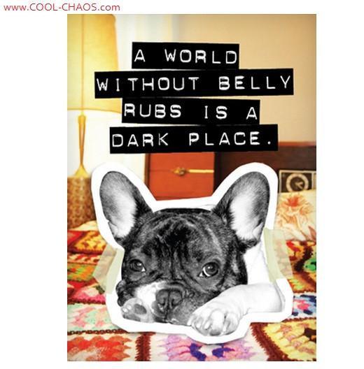 Belly Rub Bad Dog Boston Terrier Magnet
