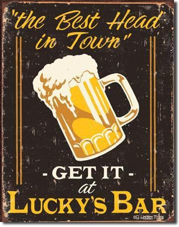 Lucky's Bar Tavern Sign