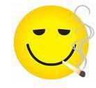 Smoking Bud High Stoner Smiley Sticker