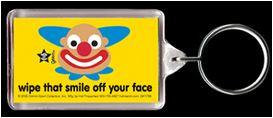 Wipe that Smile Off Your Face Clown Keychain