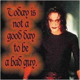 The Crow Sticker #1 Bad Guy Day