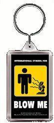 International Signs Blow Me Keychain