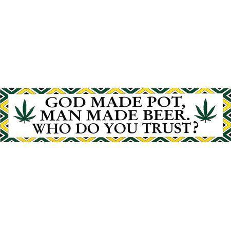 Man Made Beer Bumper Sticker