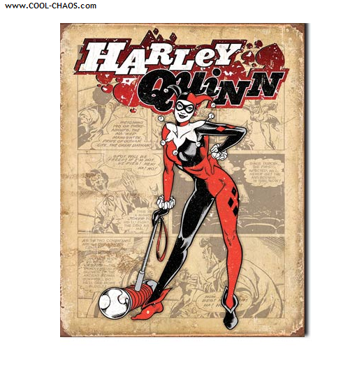 Harley Quinn Tin Sign / Retro,Distressed Comic Book Sign