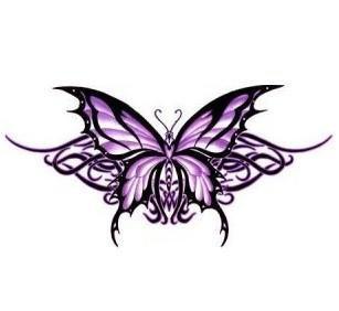Tribal Purple Butterfly Sticker