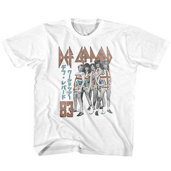 Def Leppard T-Shirt / 83 Def Leppard Japan UNION JACK Toddler & Kids Tee