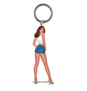 Keith Garvey Art Pin-up Girl Keychain #1 Brooke