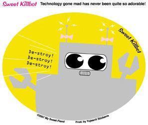 Mad Robot Sticker
