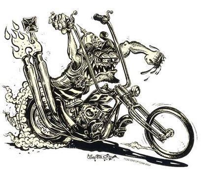 Murder Cycle Kustom Chopper Monster Sticker