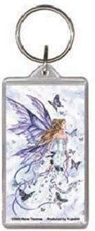 Lavender Serenade Purple Fairy Keychain
