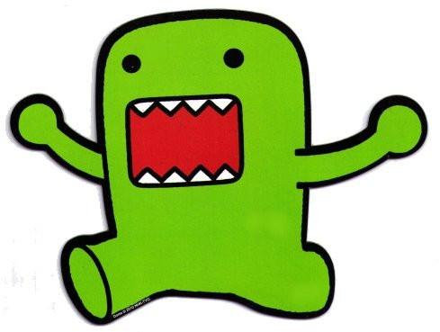 Green Domo-Kun Car Magnet