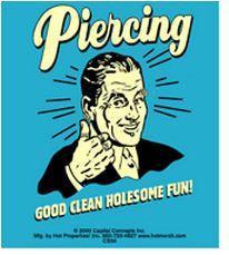 Retro Spoof Piercing Sticker