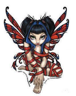 Red Ribbon Goth Fairy Sticker