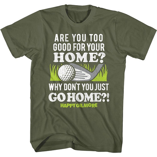 Happy Gilmore T-Shirt / Adam Sandler 'GO HOME BALL' Golf Movie Tee