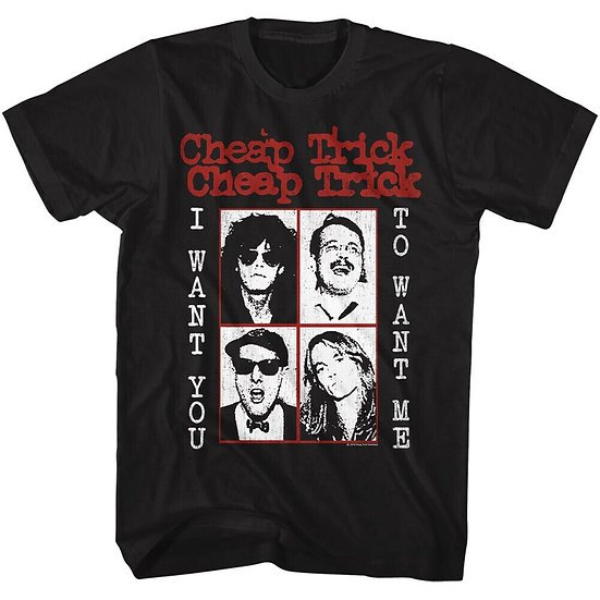 CHEAP TRICK T-Shirt / 70'S CHEAP TRICK I WANT YOU TO WANT ME! THROWBACK Rock Tee