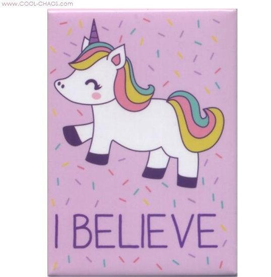 I believe in Unicorns Magnet - Rainbow Unicorn