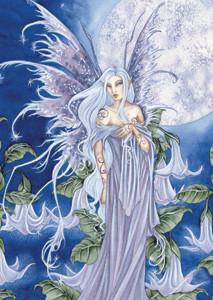 Amy Brown Art Sticker Night Blossom Fairy
