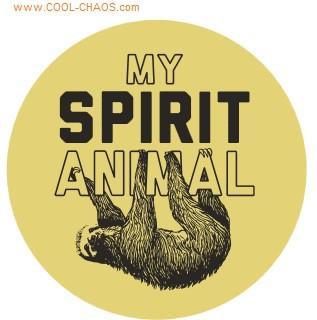 My Spirit Animal Sloth Button