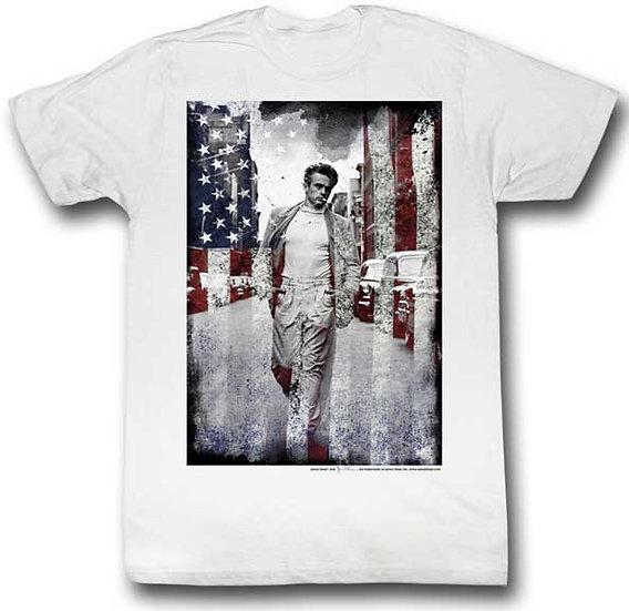 James Dean T-Shirt / Legend James Dead American Flag Men's Tee