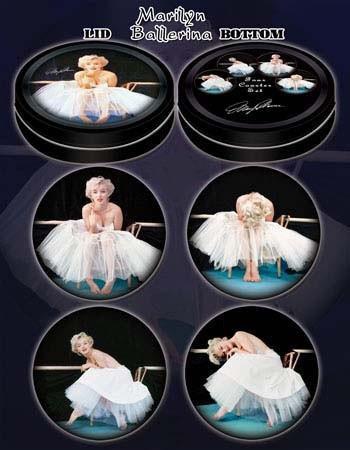 Ballerina Marilyn Monroe Coasters in Collectors Tin