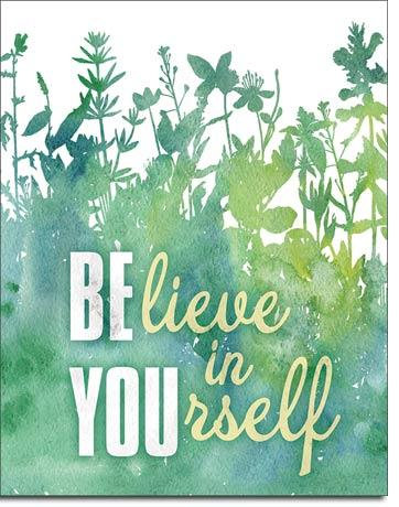 Be You' Believe in yourself Meadow Tin Sign