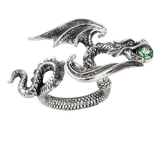 Pewter Star Chaser Serpent Ring