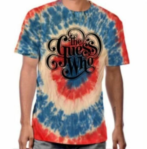 THE GUESS WHO T-SHIRT / AWESOME TIE DYE WITH OFFICIAL 'THE GUESS WHO' BAND LOGO!