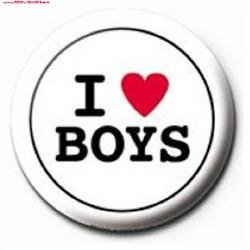 Mini I love boys button