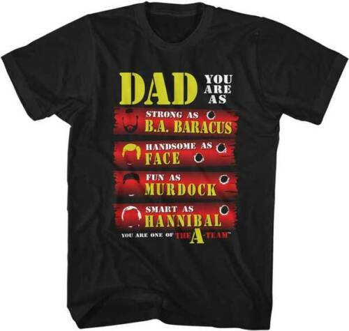 Father's Day DAD T-SHIRT/THE A-TEAM 80'S TV SHOW TEE STRONG HANDSOME FUN SMART