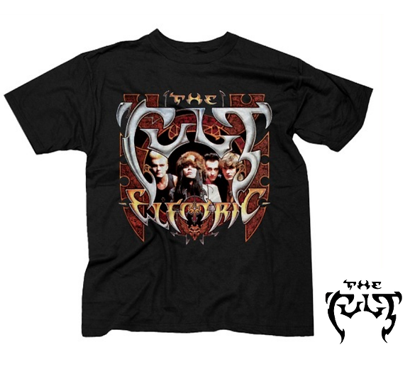 THE CULT T-SHIRT / THE CULT ELECTRIC ALBUM THROWBACK 80'S RETRO ROCK TEE