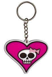 Sweetie Skull Heart Keychain