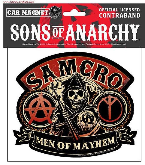 Samcro Sons of Anarchy Car Magnet