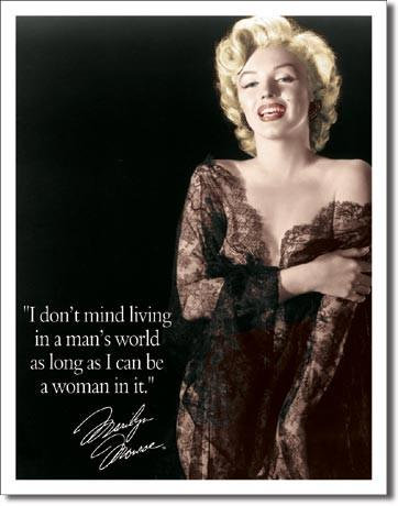 Man's World Quote Marilyn Monroe Tin Sign