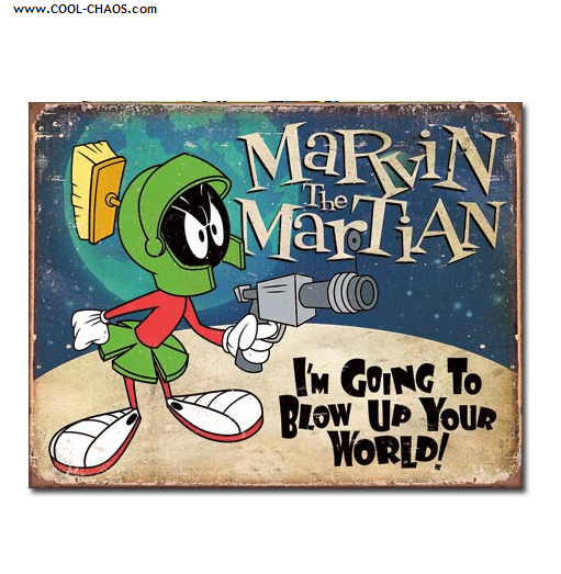 Marvin the Martian Sign / Looney Tunes Distressed replica Tin Sign