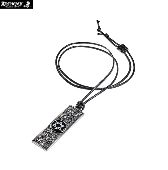 Principia Alchemy Mystica Pewter Talisman Amulet Necklace by Alchemy Gothic 1977