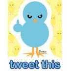 Tweet This Twitter Spoof Bluebird Sticker