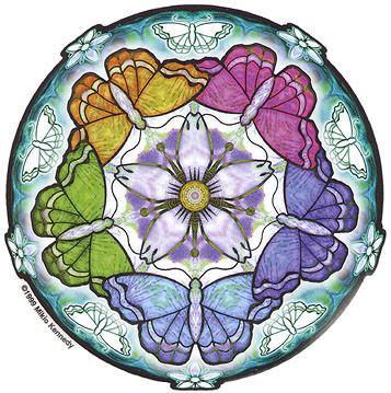 Rainbow Butterfly Mandala Sticker
